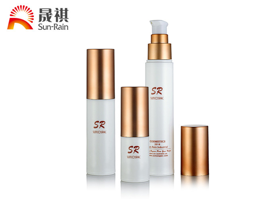 Trung Quốc White Pumpless Pump Chai Press Rose Gold Cap Liquid Foundation Pump Pump nhà phân phối